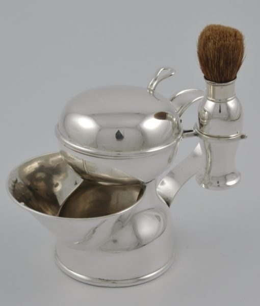 Edwardian silver shaving mug 1
