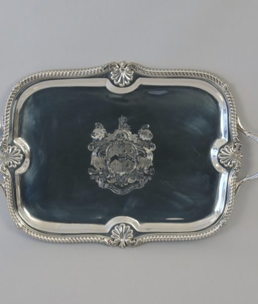 George III silver tray with Tower of London provenance 5