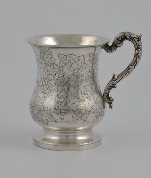 Indian Colonial silver mug 1