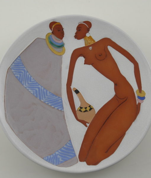 Kalahari Couple plate