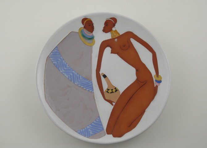 Kalahari Couple plate