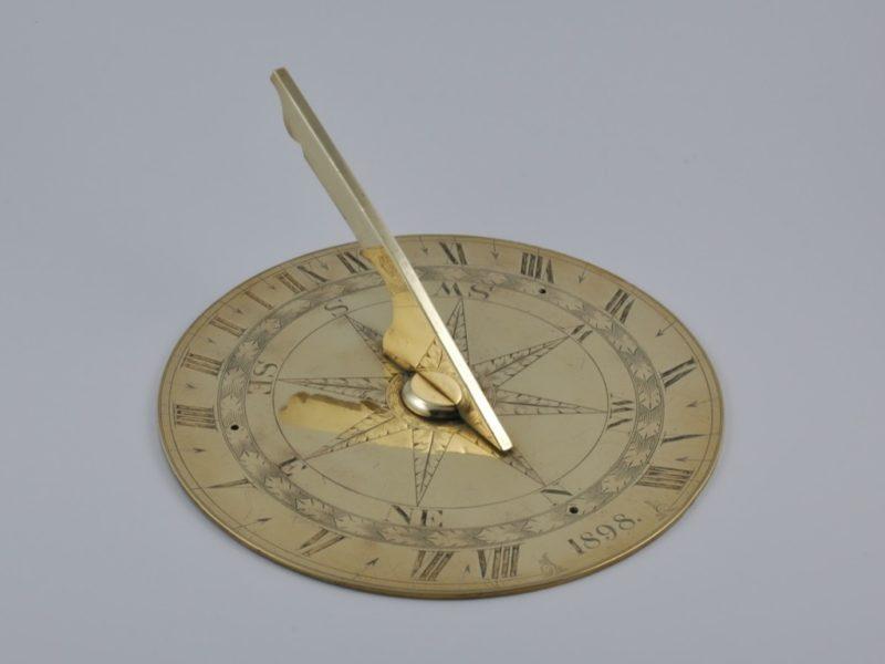 Brass sundial 1