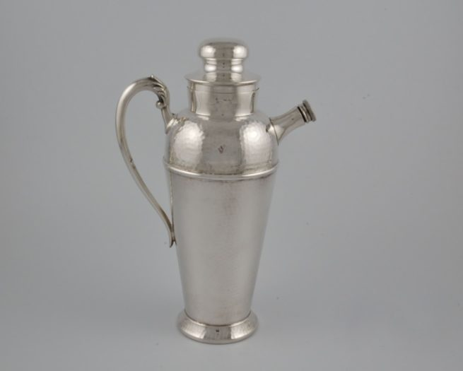 Canadian silver plate cocktail shaker 1