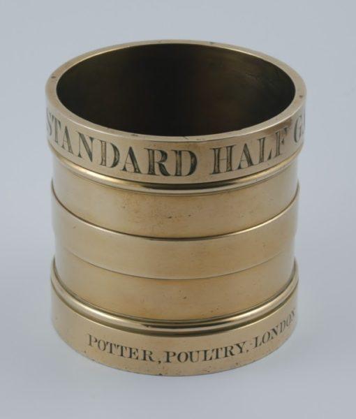Potter brass Half Gallon Measure 1