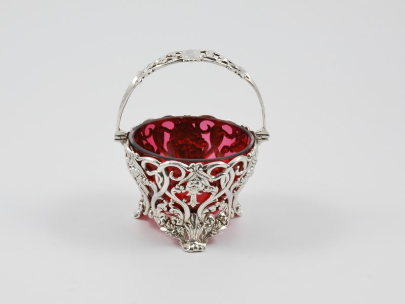 Silver and glass basket 1