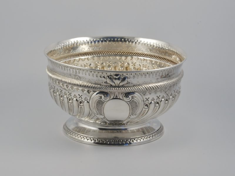 Victorian silver rose bowl 1890 1