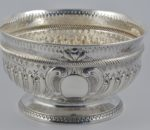Victorian silver rose bowl 1890 2