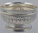 Victorian silver rose bowl 1890 3