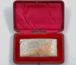 Birmingham 1906 silver card case with gold mounts 2