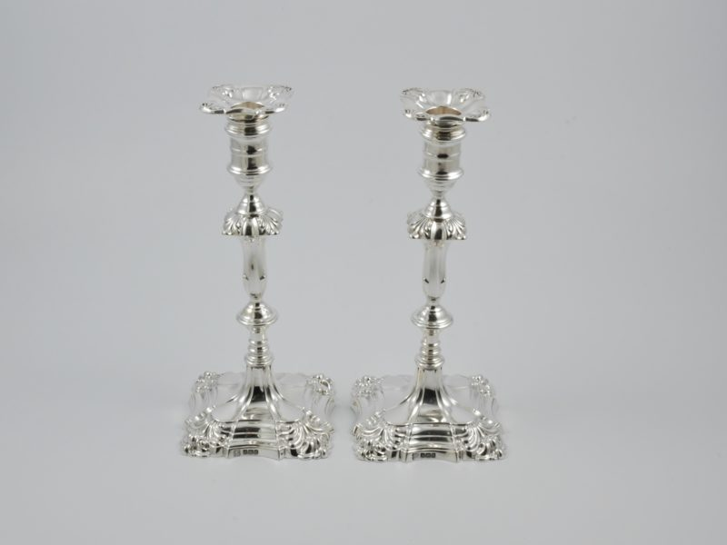 Pair of silver candelsticks 1913 1