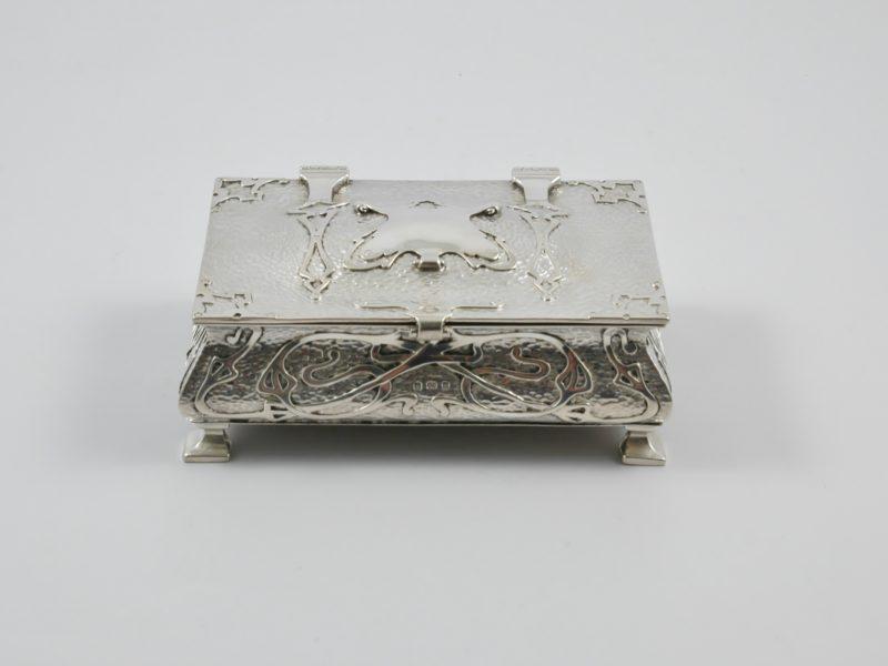 Silver cigar box 1902 1
